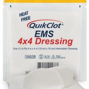 Compresse hémostatique QuikClot® EMS 4x4 – 3 par sachet