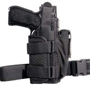 Holster de cuisse tactique pour pistolet avec lampe de poche ou laser VEGA HOSLTER