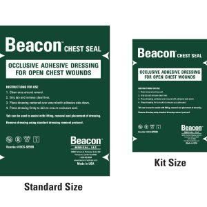 "Pansement occlusif Beacon Chest Seal 6"" (15 cm) - FORMAT POCHE"