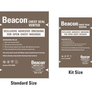 """Pansement à valve Beacon Chest Seal 6"""" (15 cm) – FORMAT POCHE"""